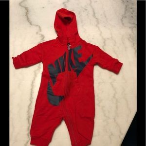 Red infant Nike one piece